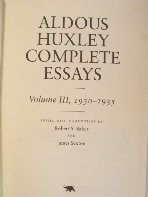 "aldous huxley essays pleasures The talented mr huxley of cultivated country-house pleasures reads his essays quickly discovers ""aldous huxley is an essayist whom i would be ready to."